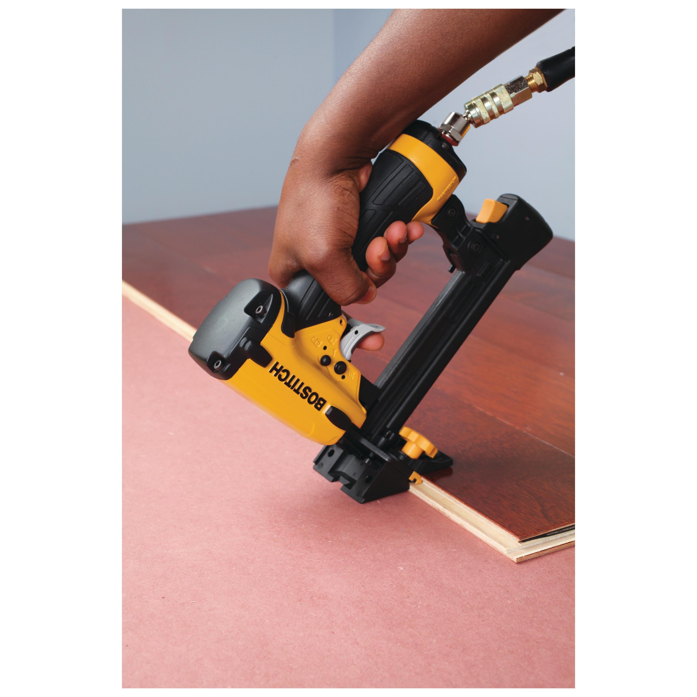 Bostitch flooring stapler for engineered hardwood (lhf2025k.