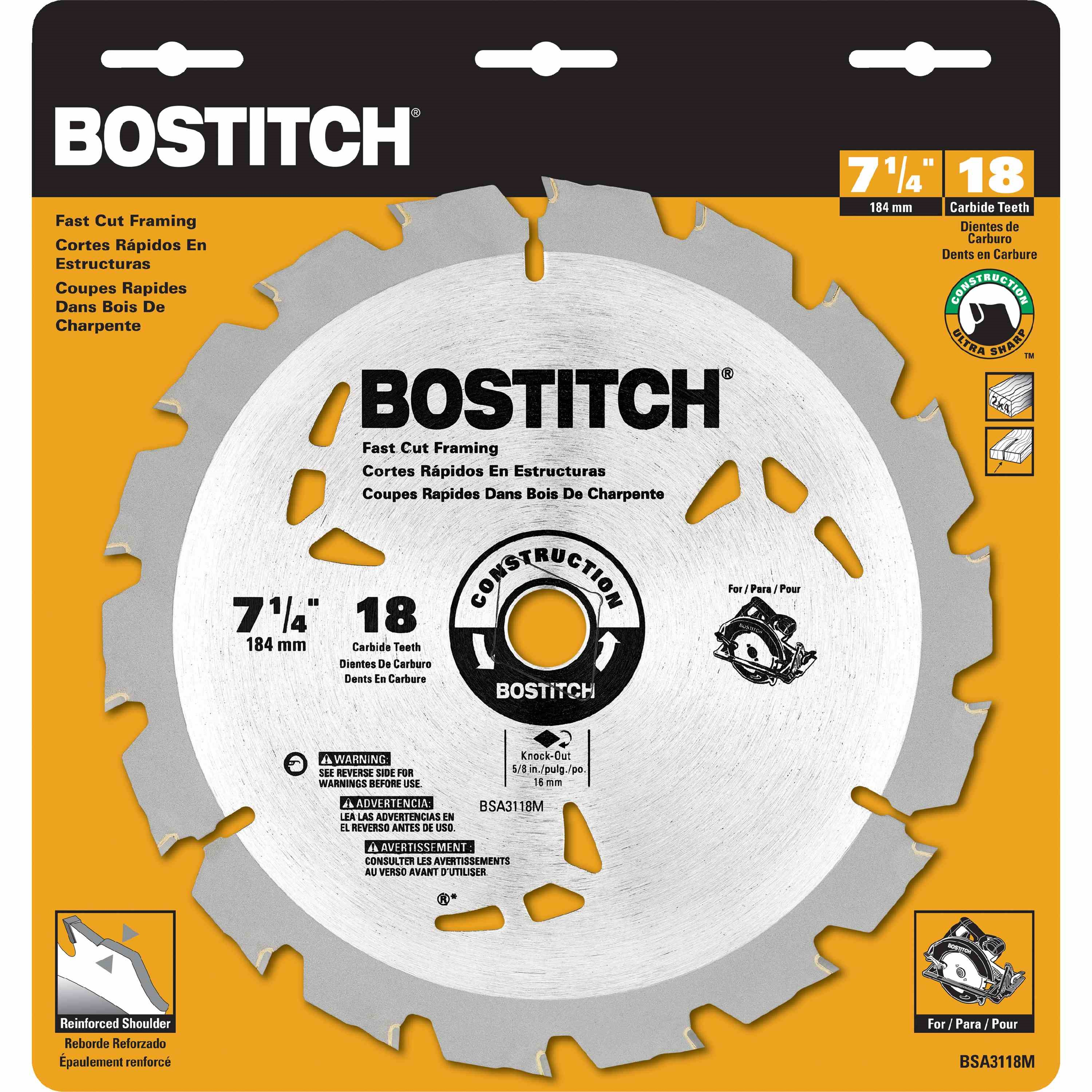 Bostitch - 7 14 18T Circular Saw Blade - BSA3118M