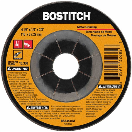Bostitch - 412 in Metal Grinding Wheel - BSA4541M