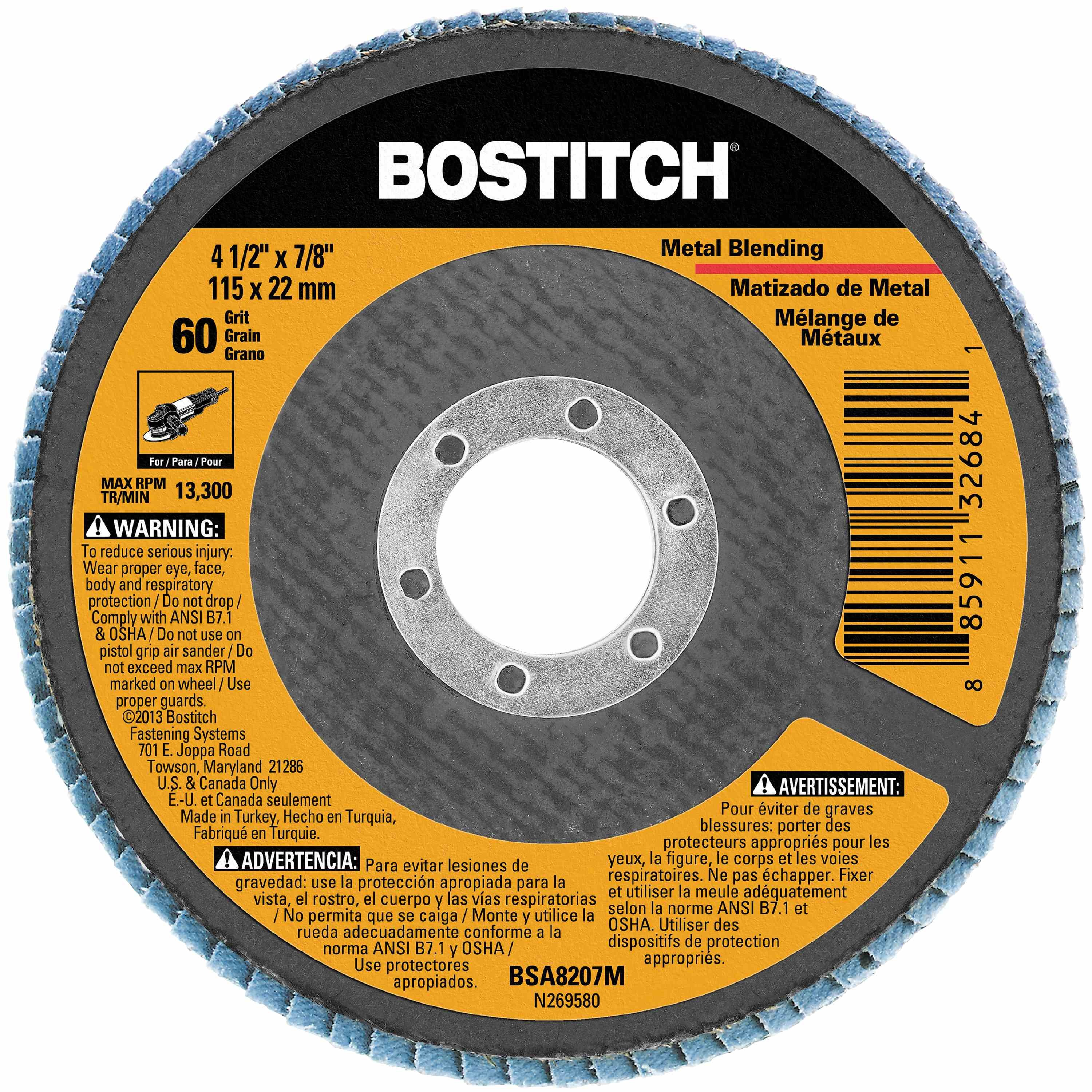 Bostitch - 412 X 78 Z60 T29 FLAP DISC - BSA8207M