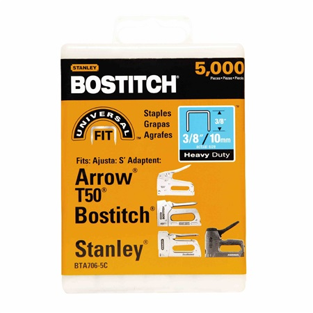 Bostitch - 38 in Staples Heavy Duty 5000 pac T50  PRO PACK - BTA706-5C