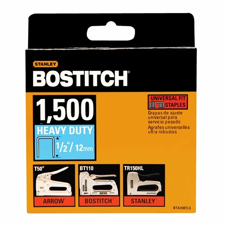 Bostitch - 12 in Staples Heavy Duty 1500 pc T50 - BTA708TLS