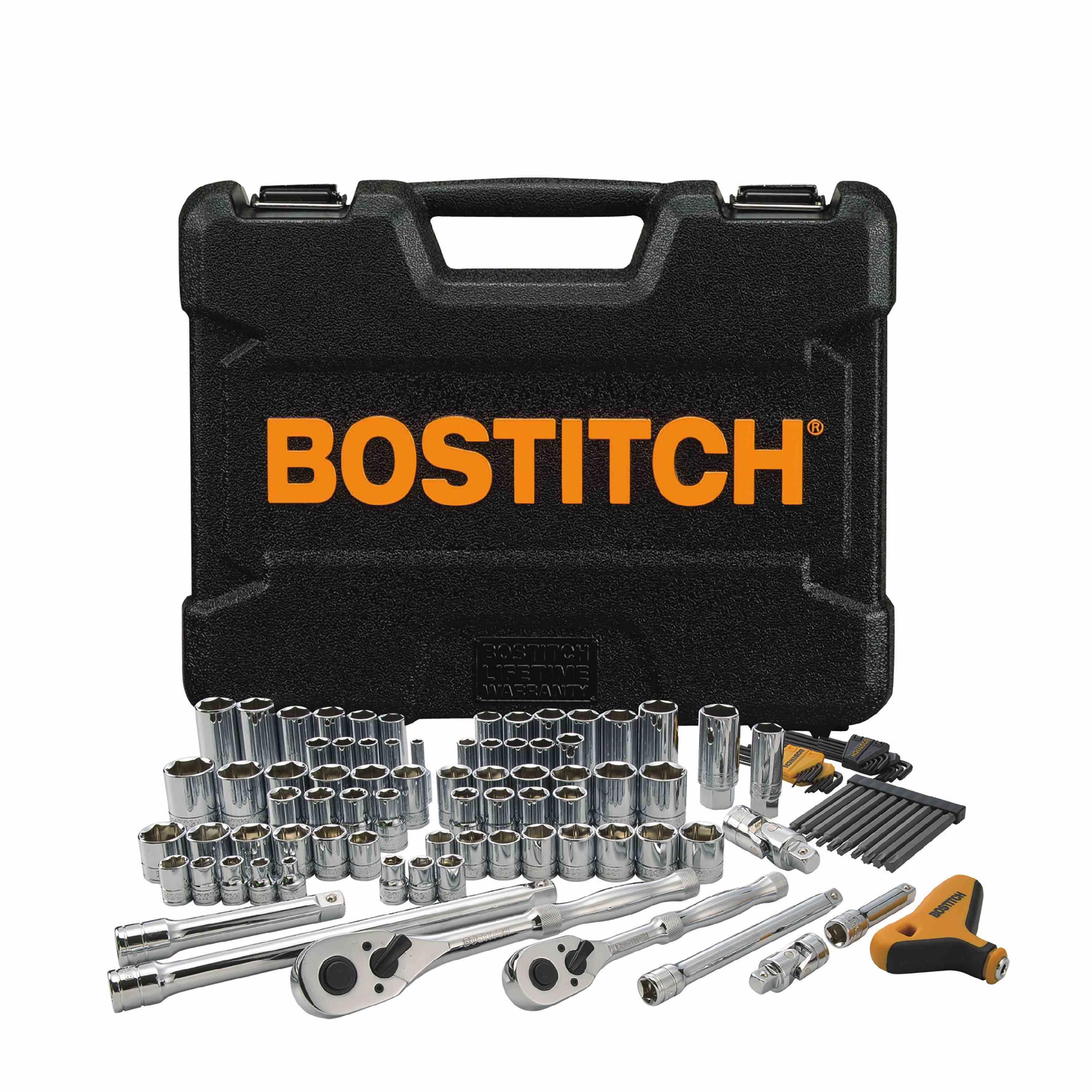 Bostitch - 105 pc Socket Set 38 in  12 in - BTMT72261
