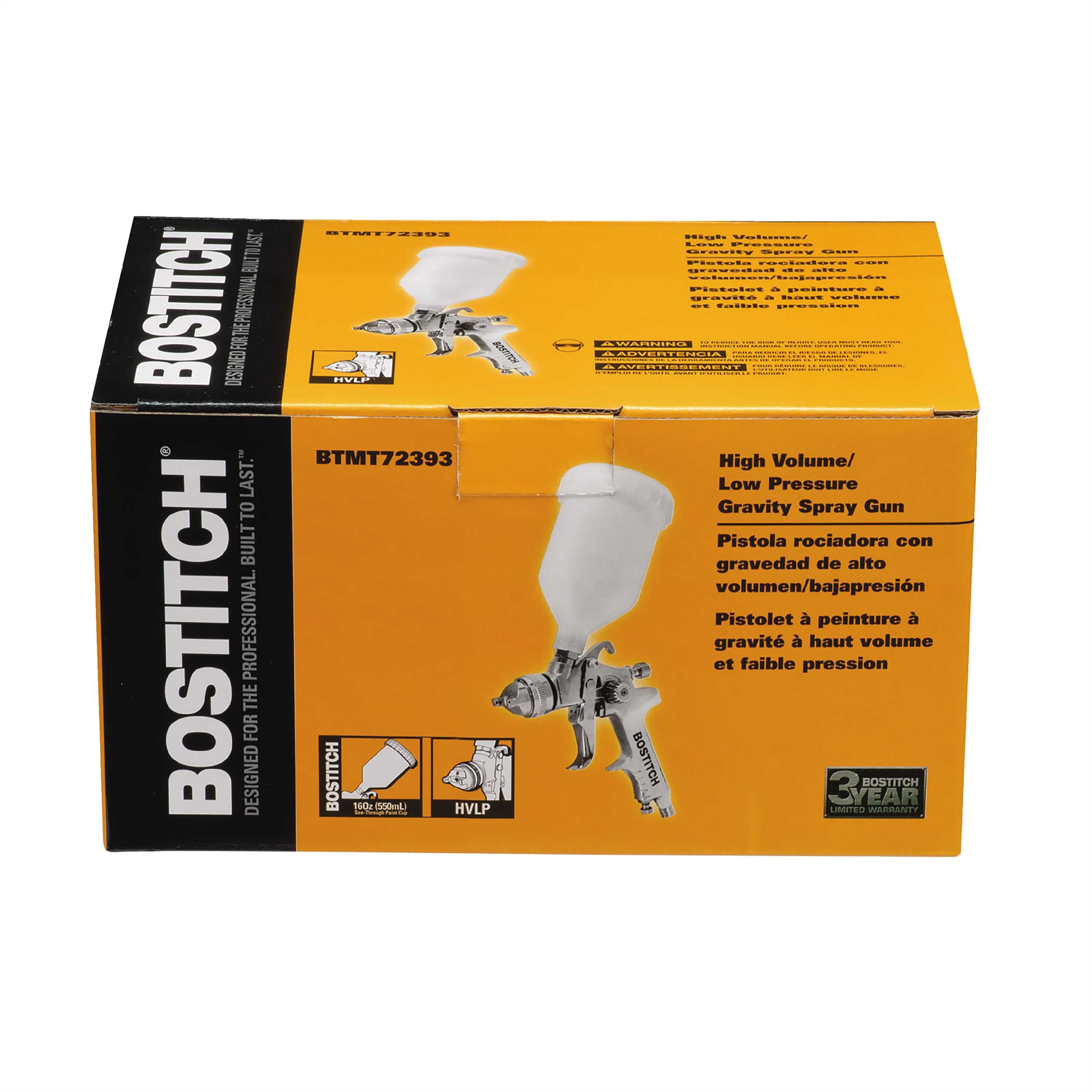 Bostitch - Gravity Feed Spray Air Gun 14 NPT - BTMT72393