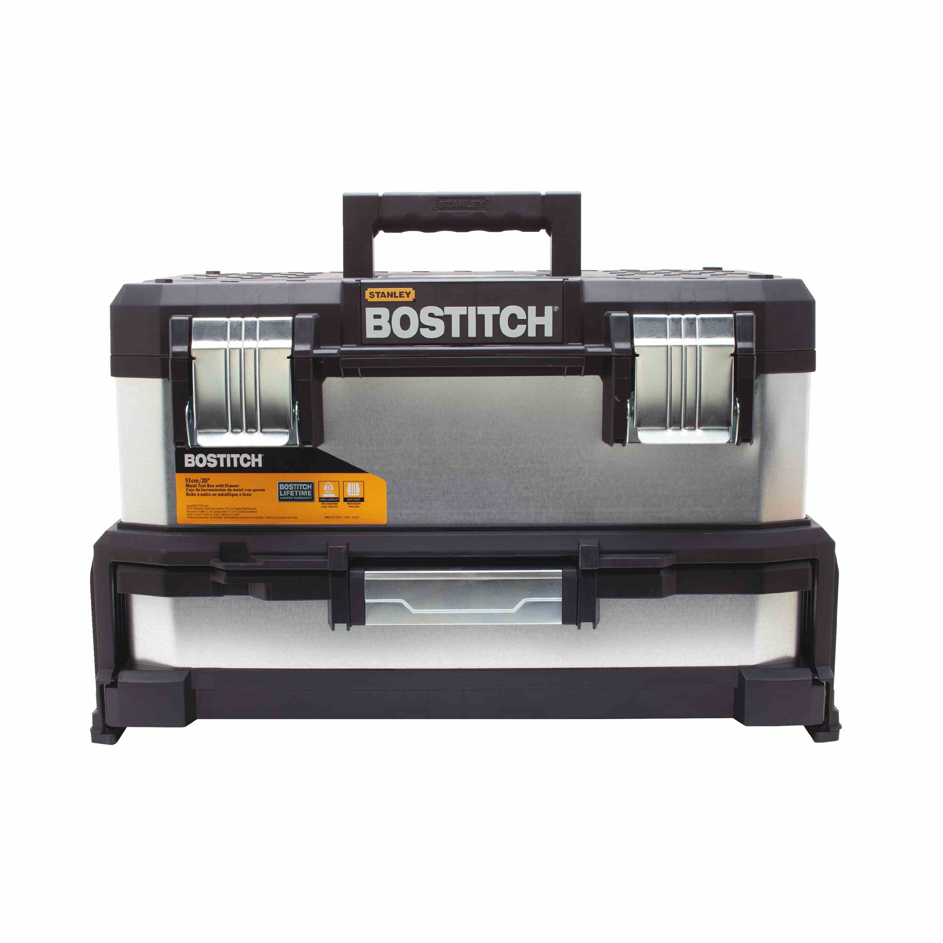 Bostitch - 20 in MetalPlastic Tool Box with Drawer - BTST20261